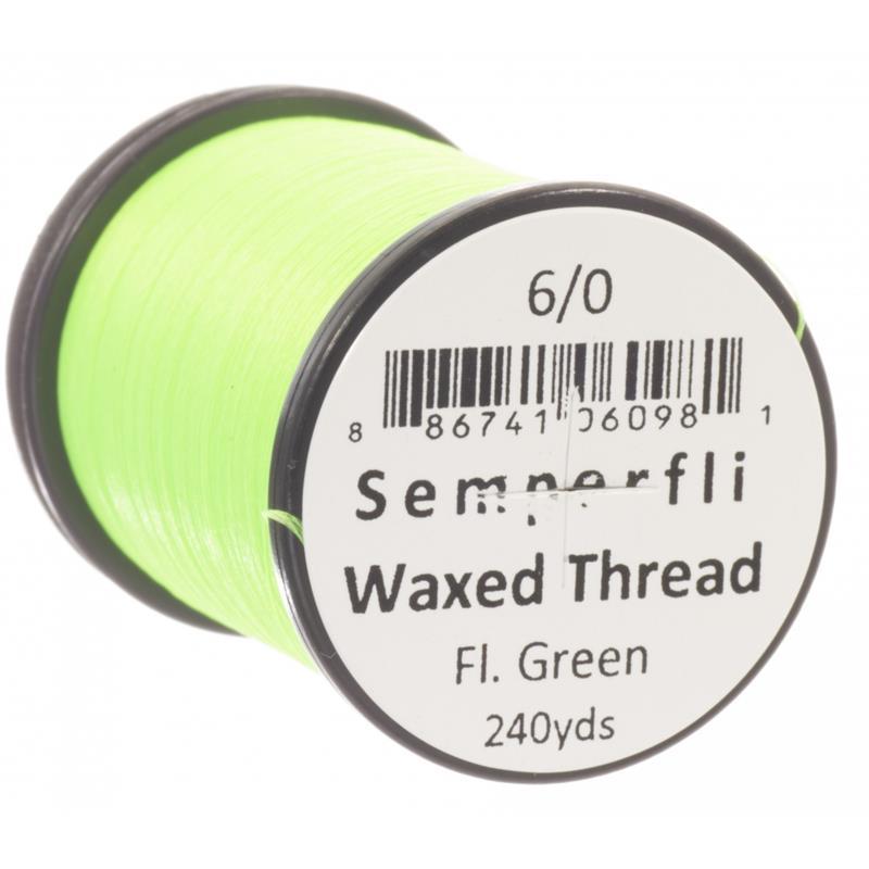 Semperfli Classic Waxed Thread Fluoro Green 6/0