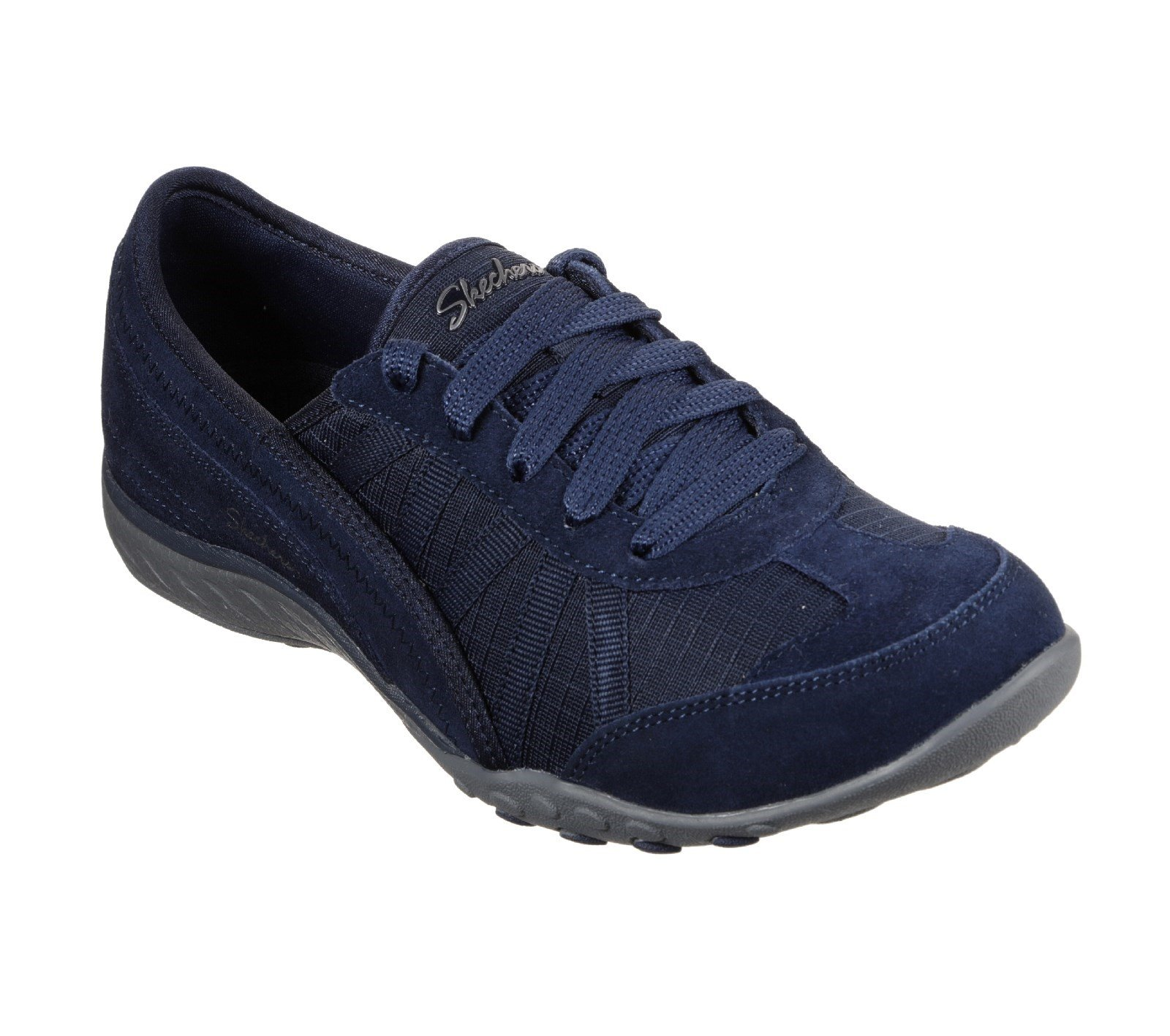 Skechers Women's Breathe-Easy-Weekend Mesh Trainers Various Colours 29534 - Navy/Charcoal 3