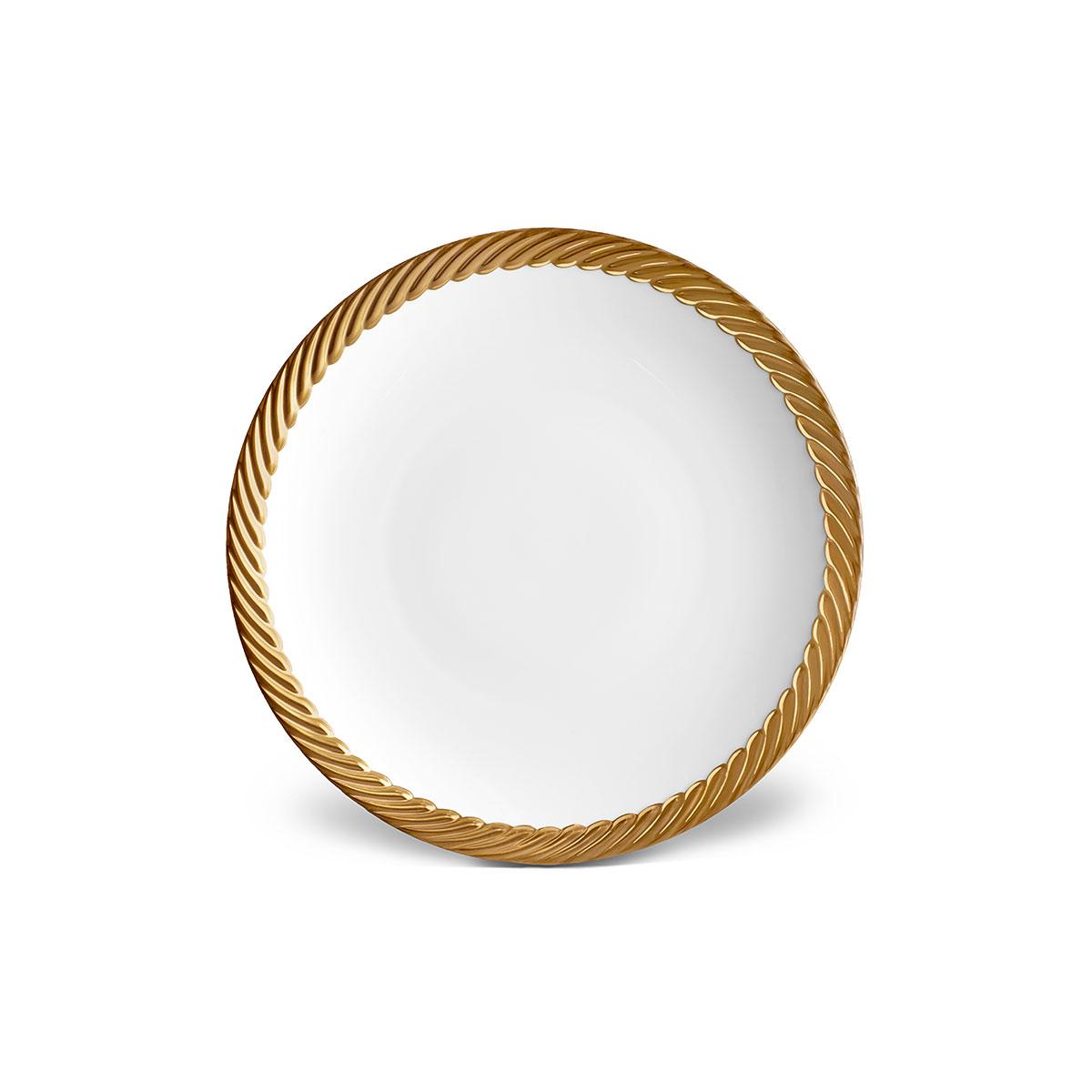 L'Objet I Corde Dinner Plate Gold