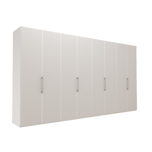 Garderobe Atlanta - Hvit 400 cm, 216 cm, Uten gesims / ramme