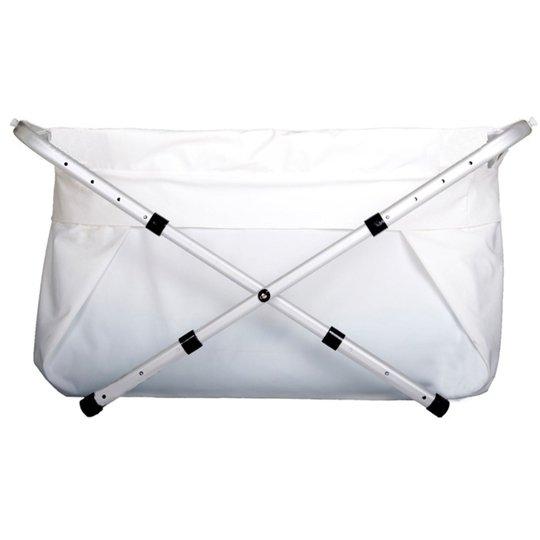 BibaBad Flexi Sammenleggbart Badekar Hvit/Hvit 80-100