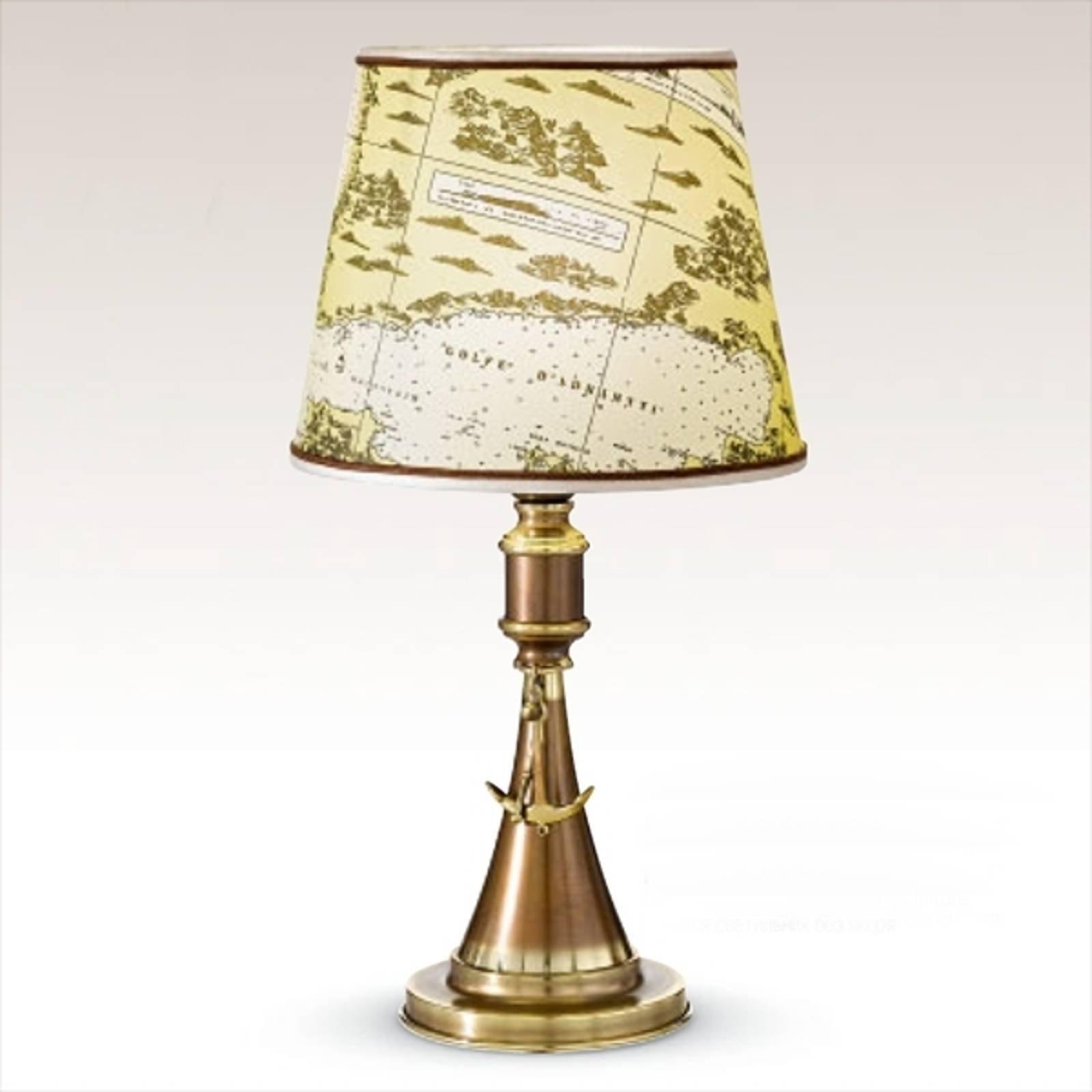 Bordlampe Laguna, maritimt design 48 cm