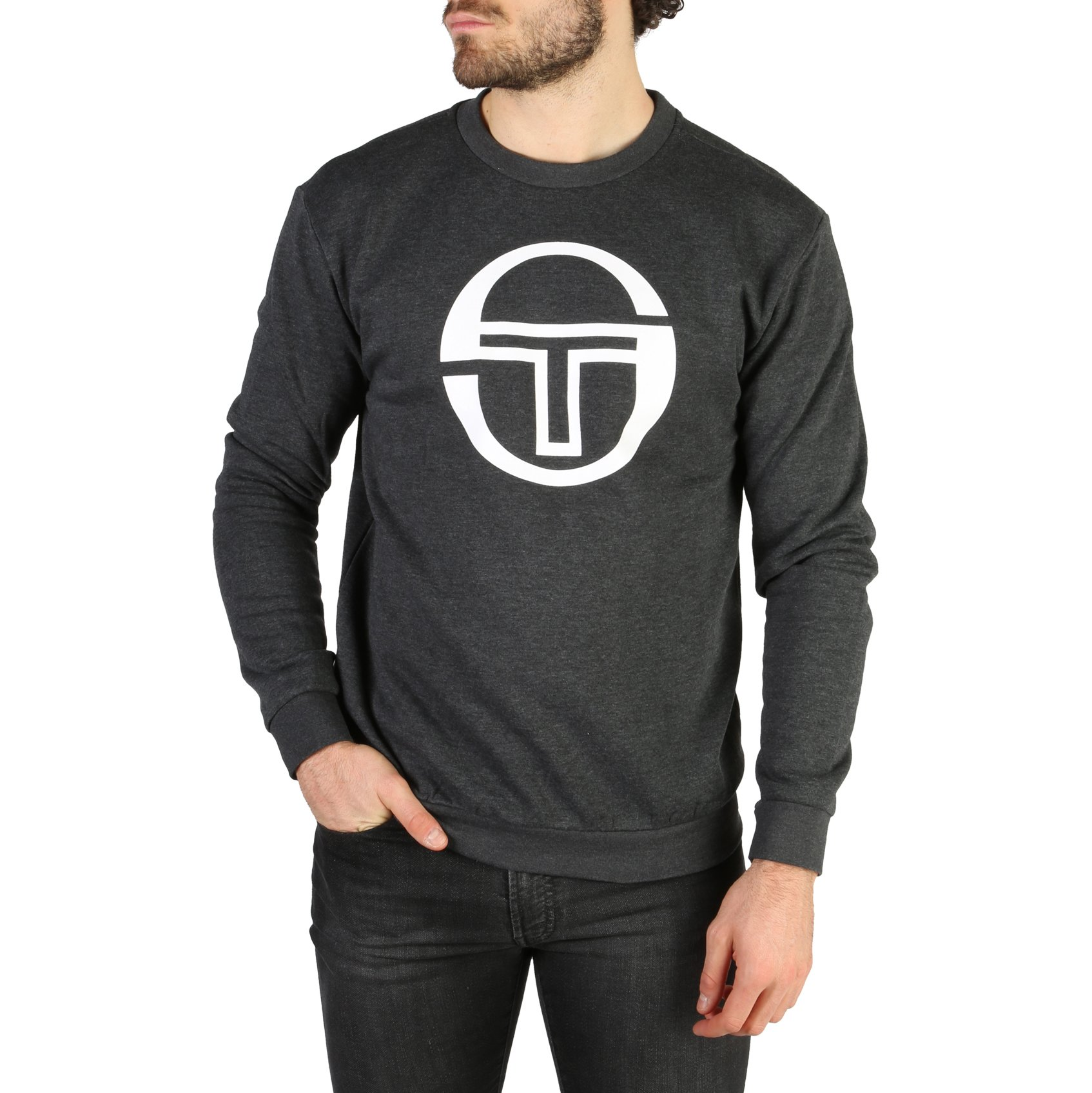 Sergio Tacchini Men's Sweatshirt Various Colours 103-10005 - black XXL