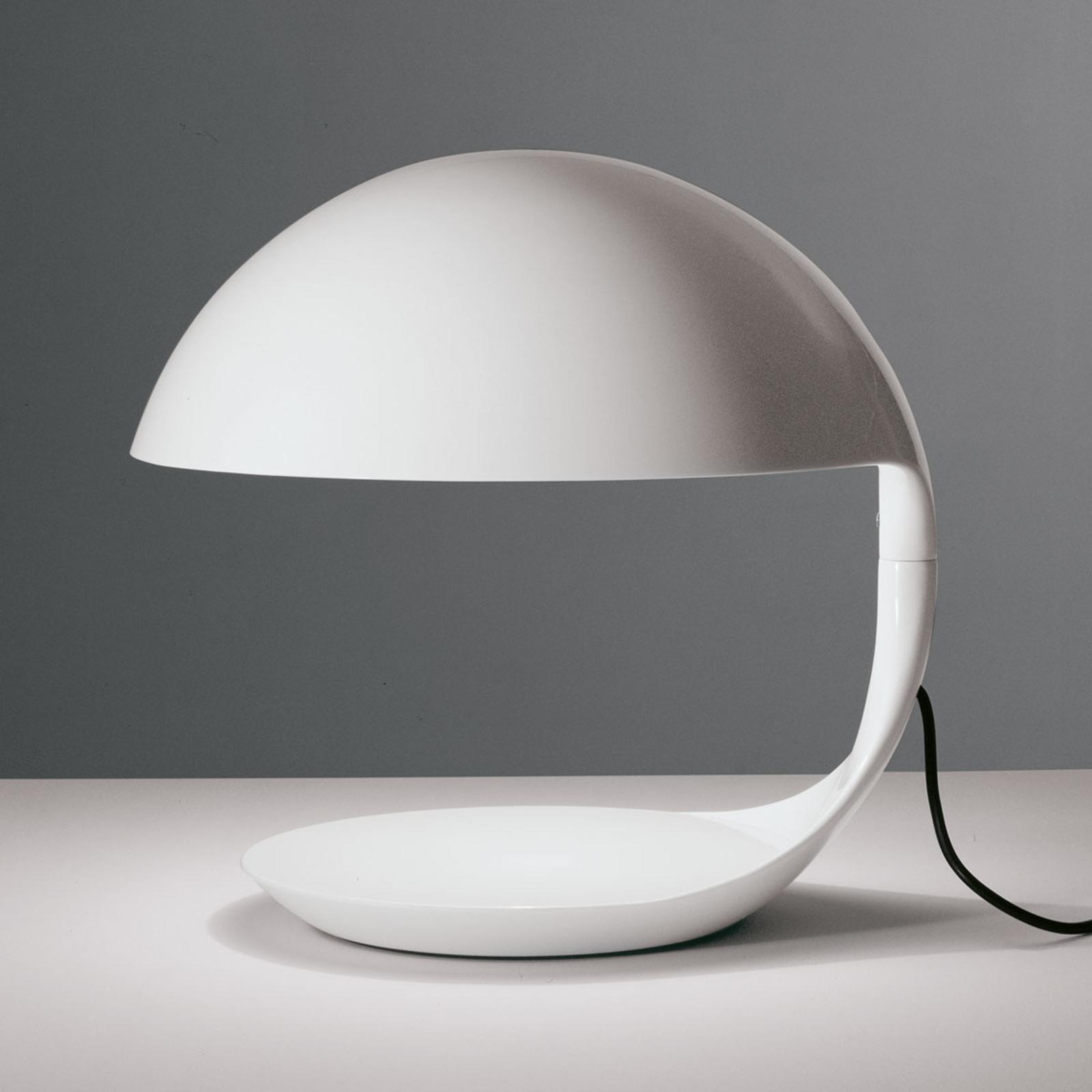 Martinelli Luce Cobra -retro-pöytälamppu valkoinen