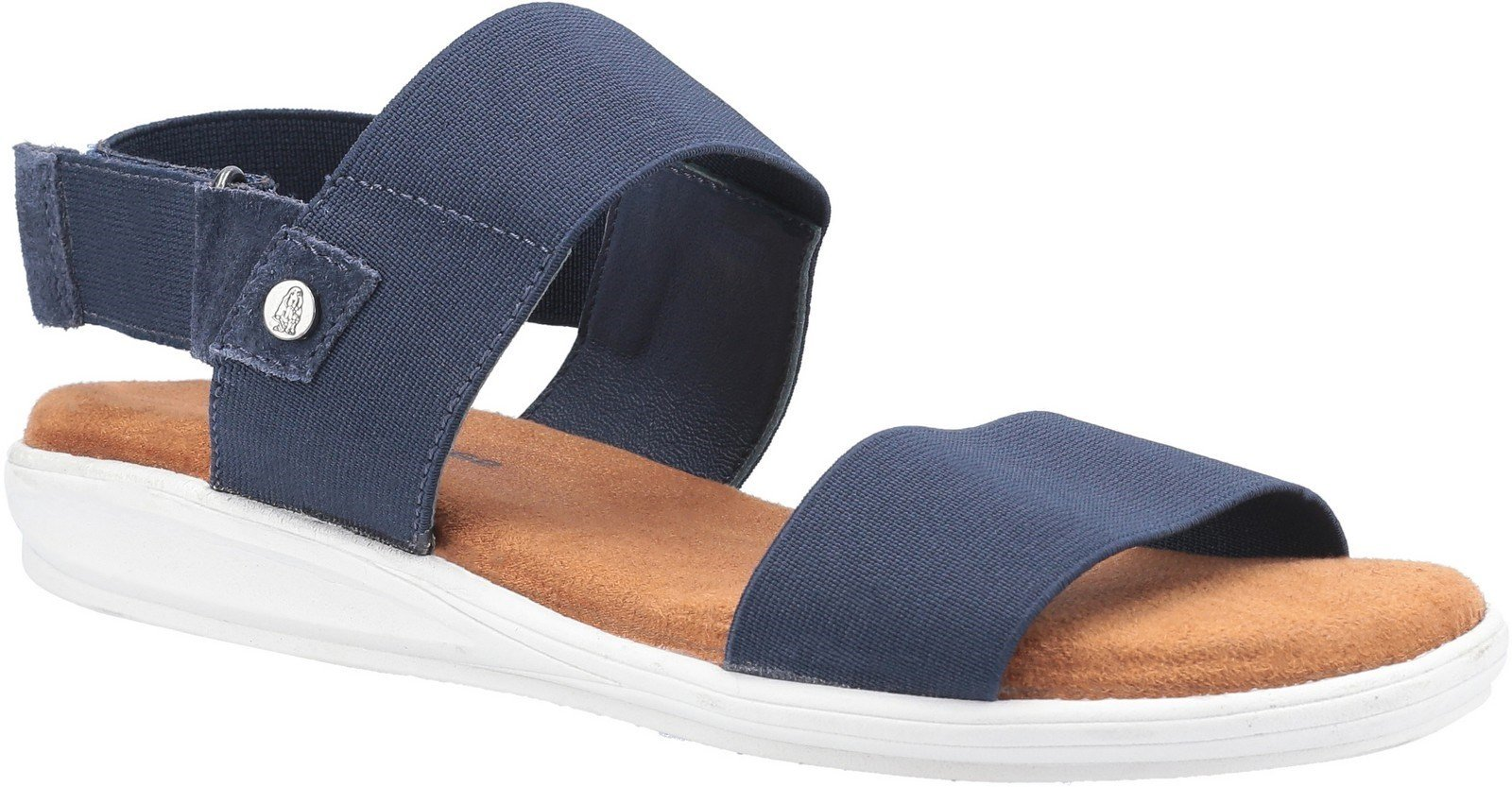 Hush Puppies Women's Ashley Touch Fastening Strap Sandal Various Colours 30218 - Navy 3