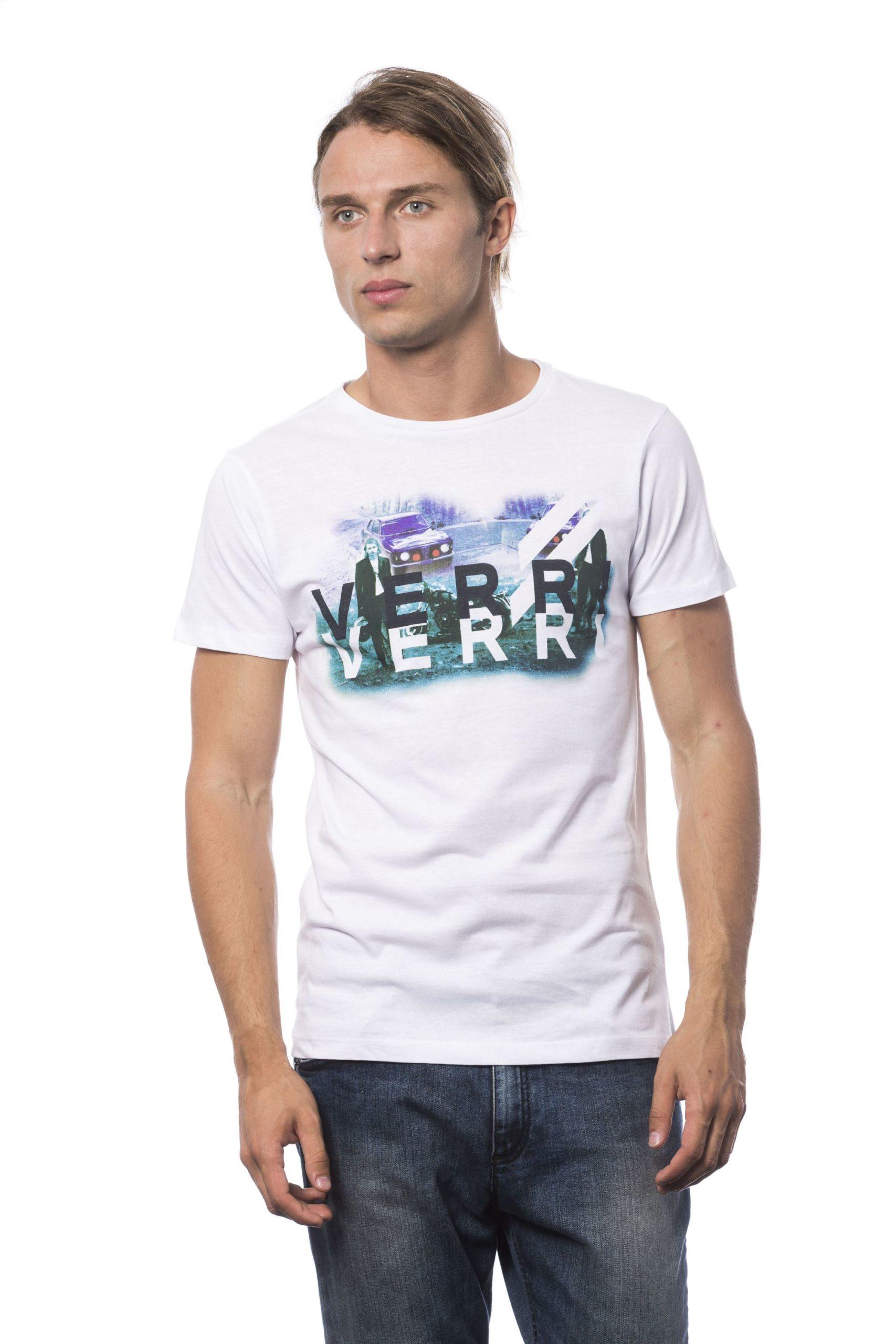 Verri Men's Bianco T-Shirt White VE683873 - S