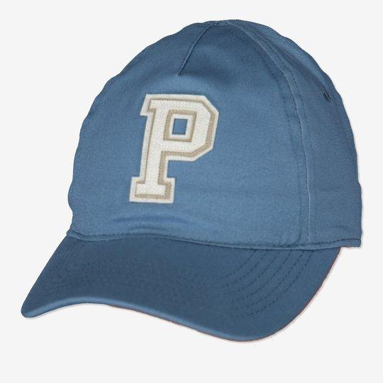 Caps med p-applikasjon blå