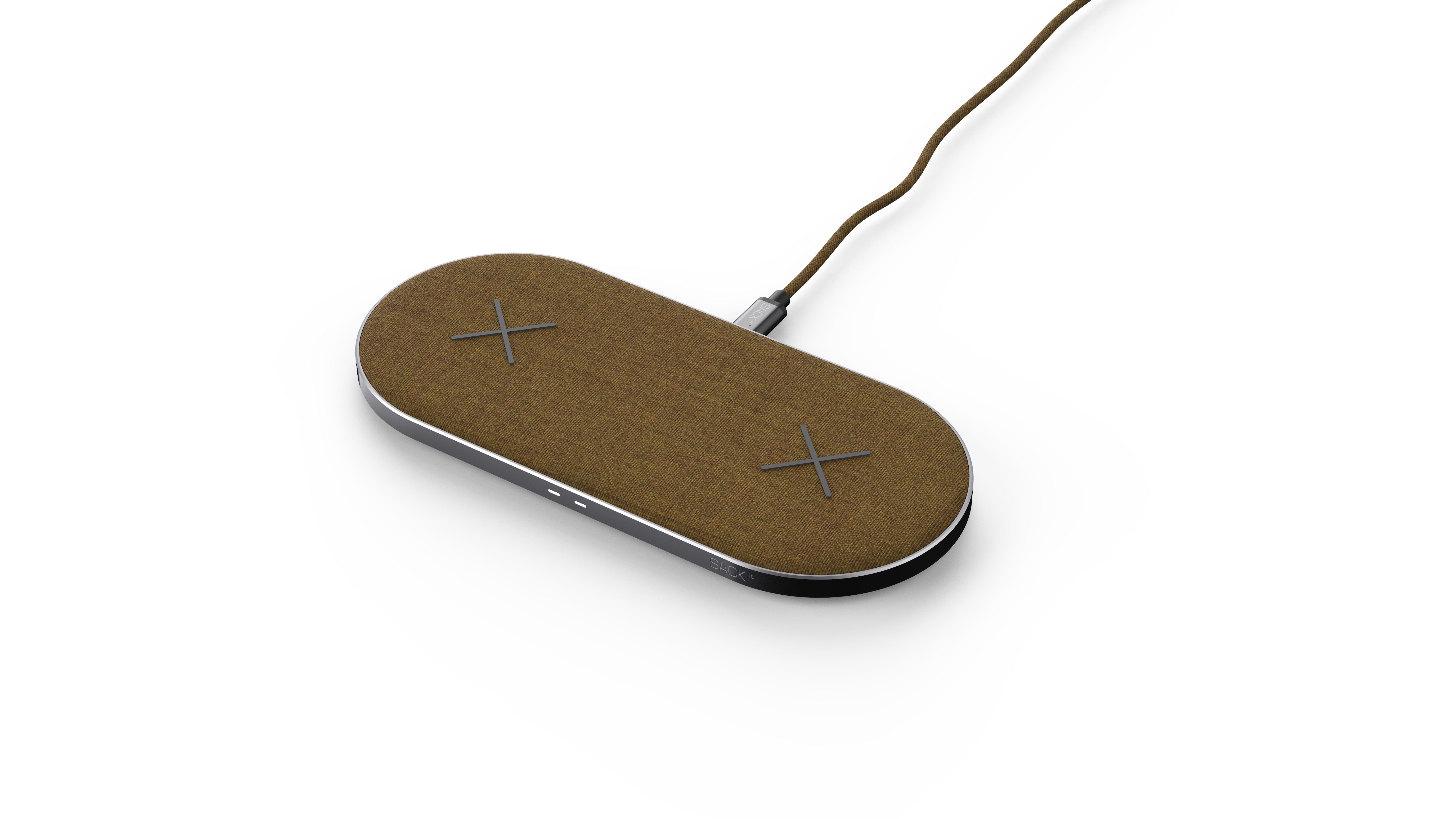 SACKit - CHARGEit Dual Dock - Wireless Charger - Curry