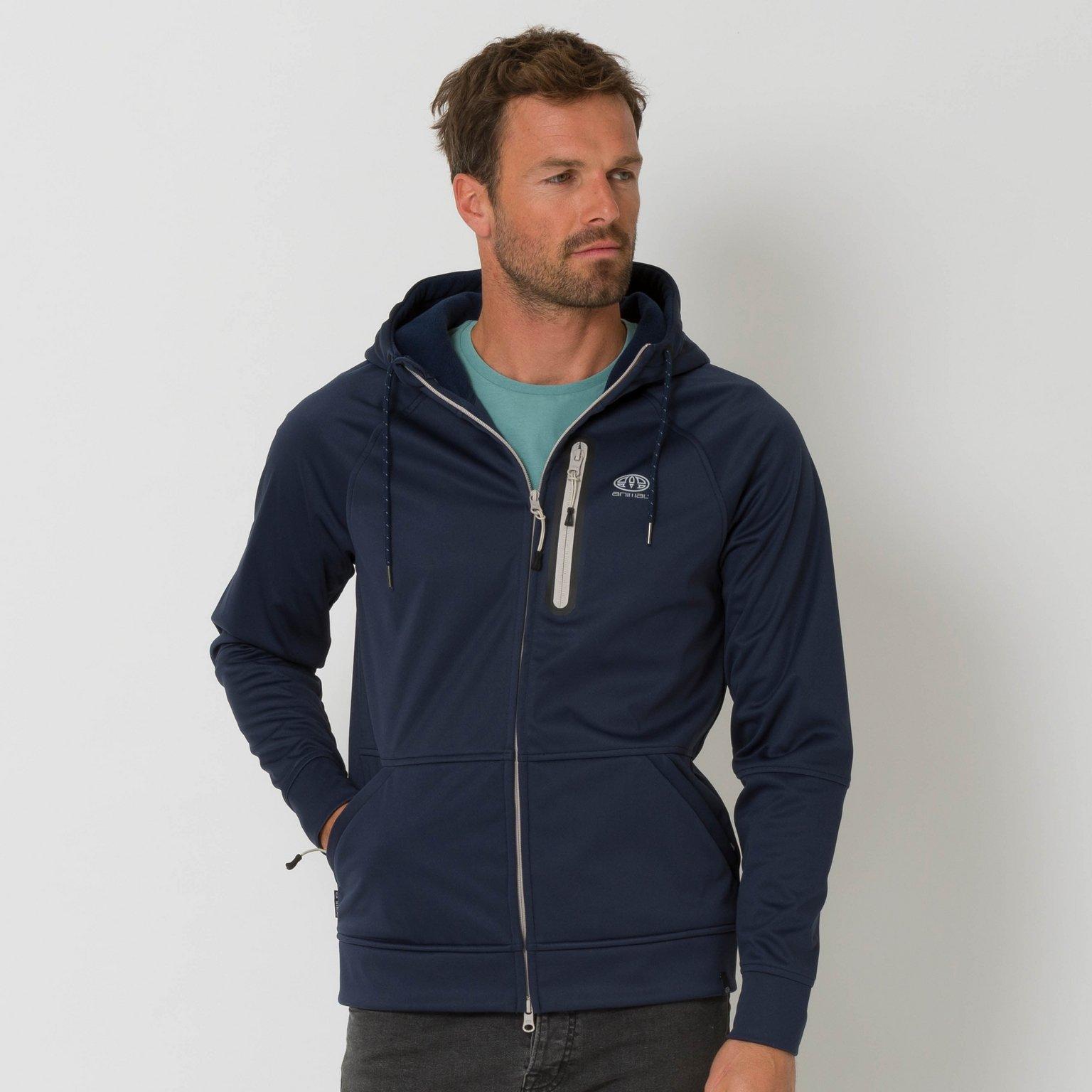 Animal Clothing Men's Visser Jacket Blue 5057652428398 - M Blue