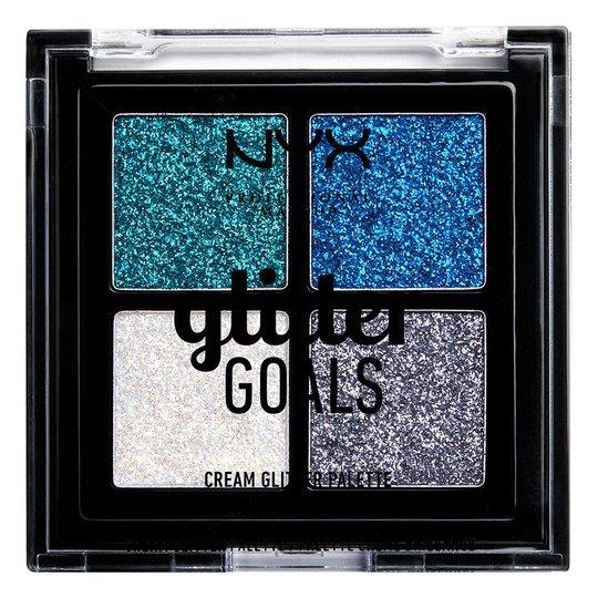 Glitter Goals Cream Quad Palette, 1,2 g NYX Professional Makeup Luomiväripaletit