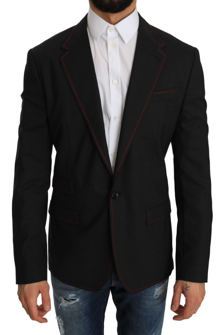 Dolce & Gabbana Men's Wool Slim Blazer Gray JKT2196 - IT48 | M