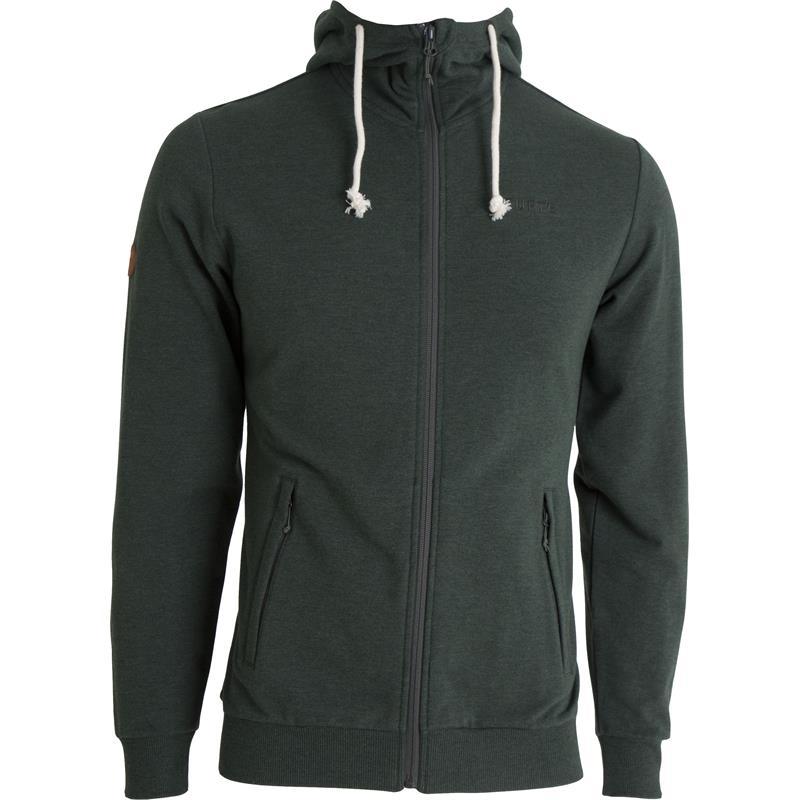 Tufte Hoodie Jacket M Hettejakke, Deep Forest Melange/Phantom