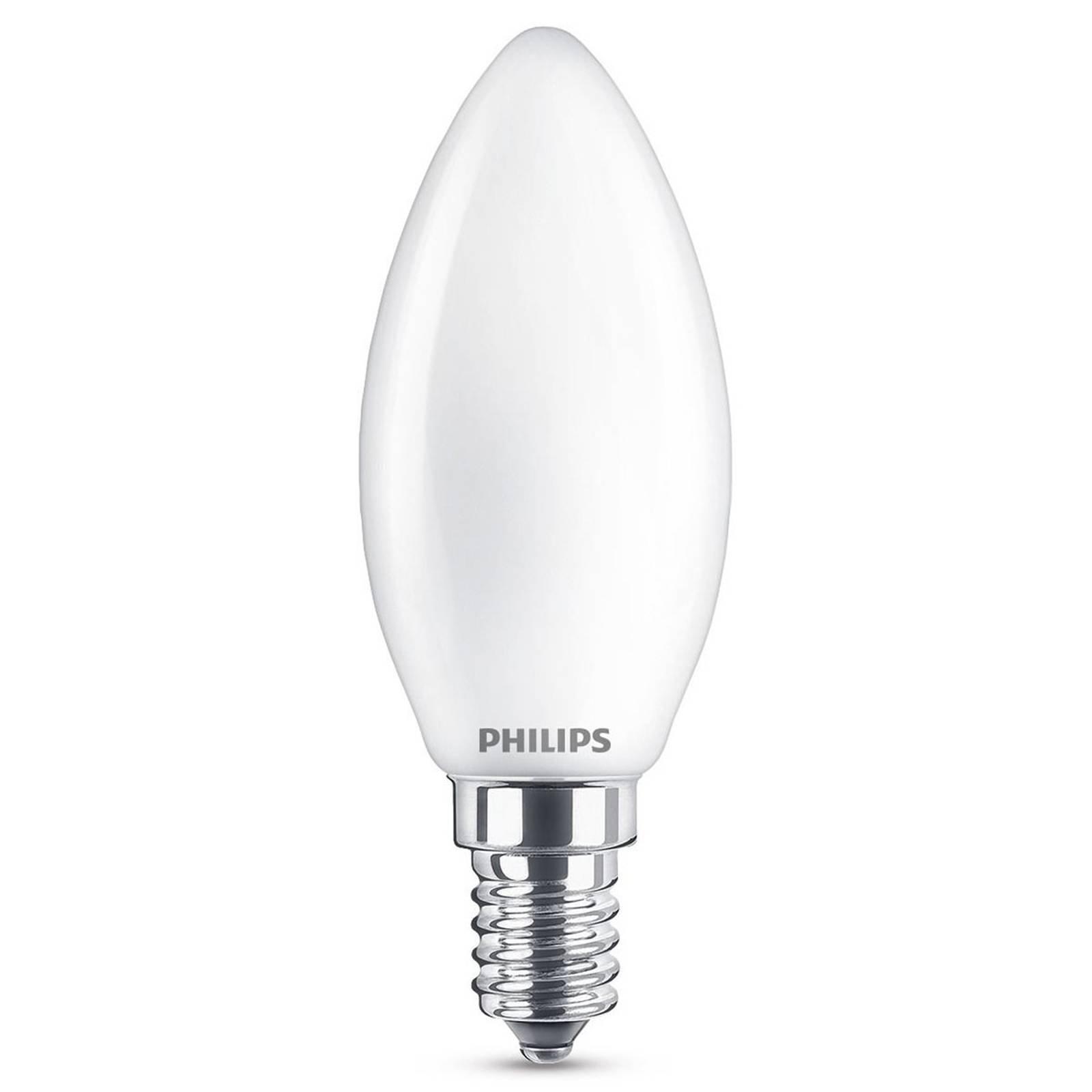 E14 4,3W 827 LED-kjernelampe, opal