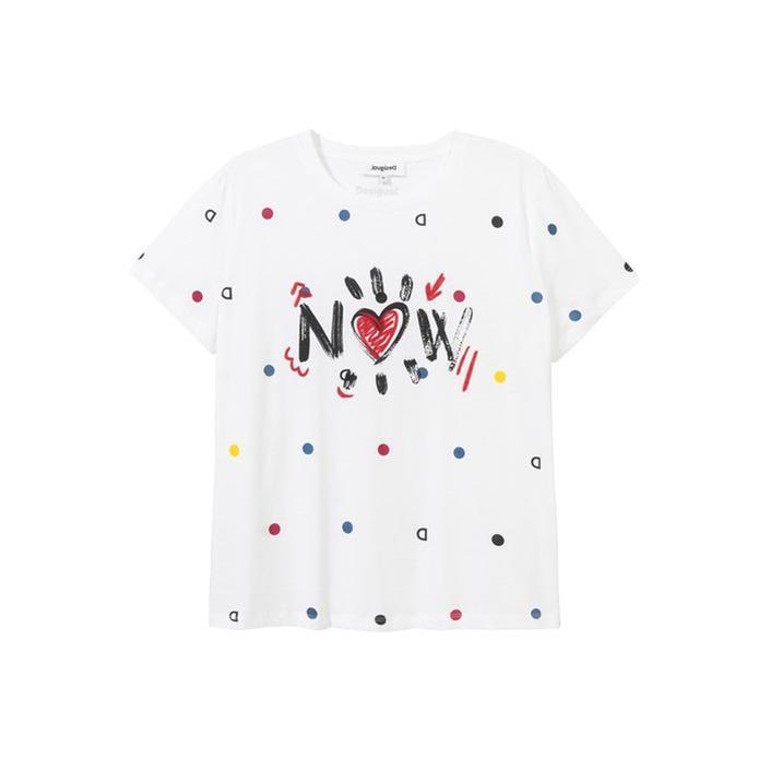 Desigual Women's T-Shirt White 203907 - white S
