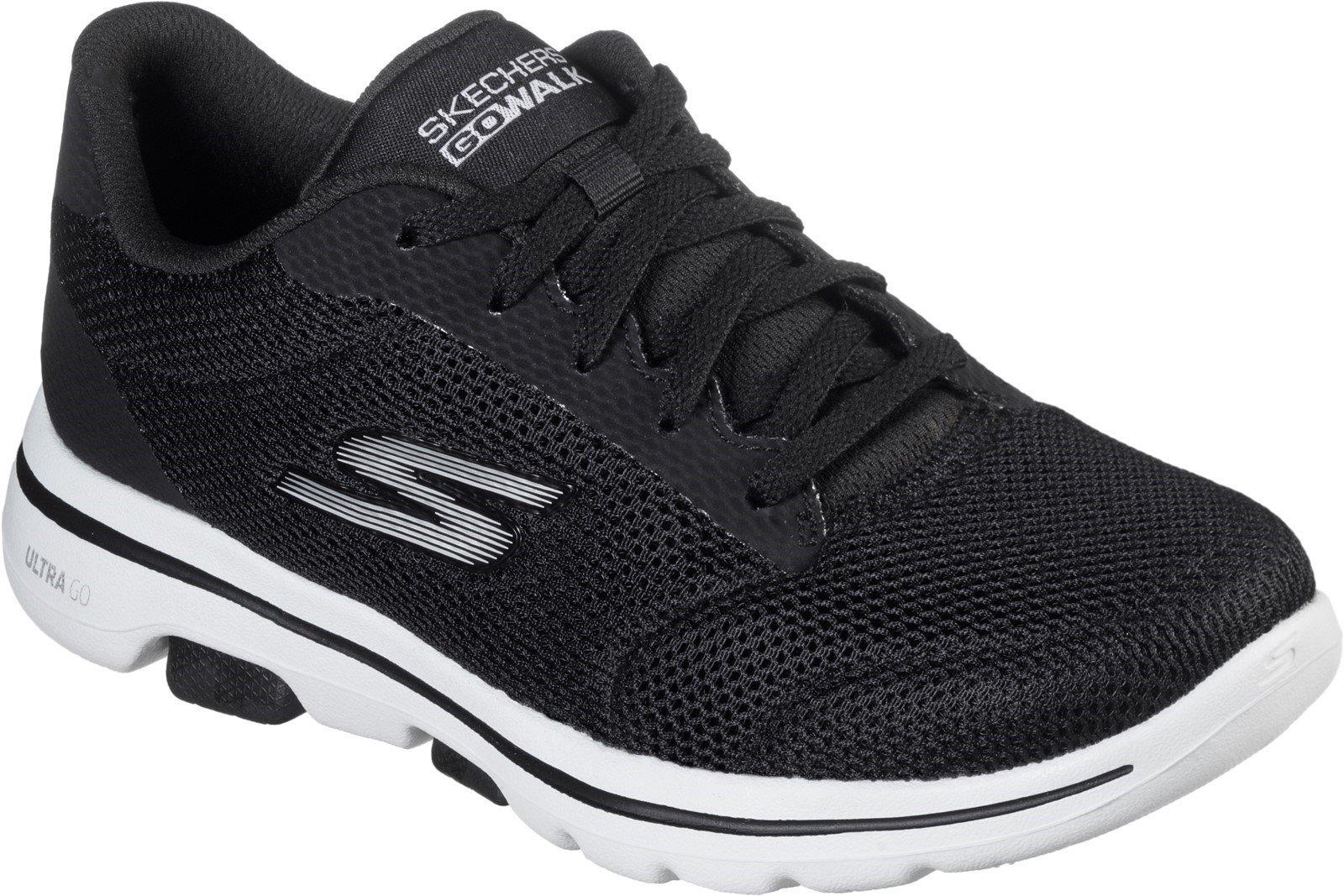 Skechers Women's Gowalk 5 Lucky Sports Trainer Various Colours 31033 - Black/White 3