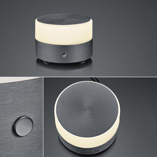 BANKAMP Button LED-bordlampe høyde 11 cm antrasitt