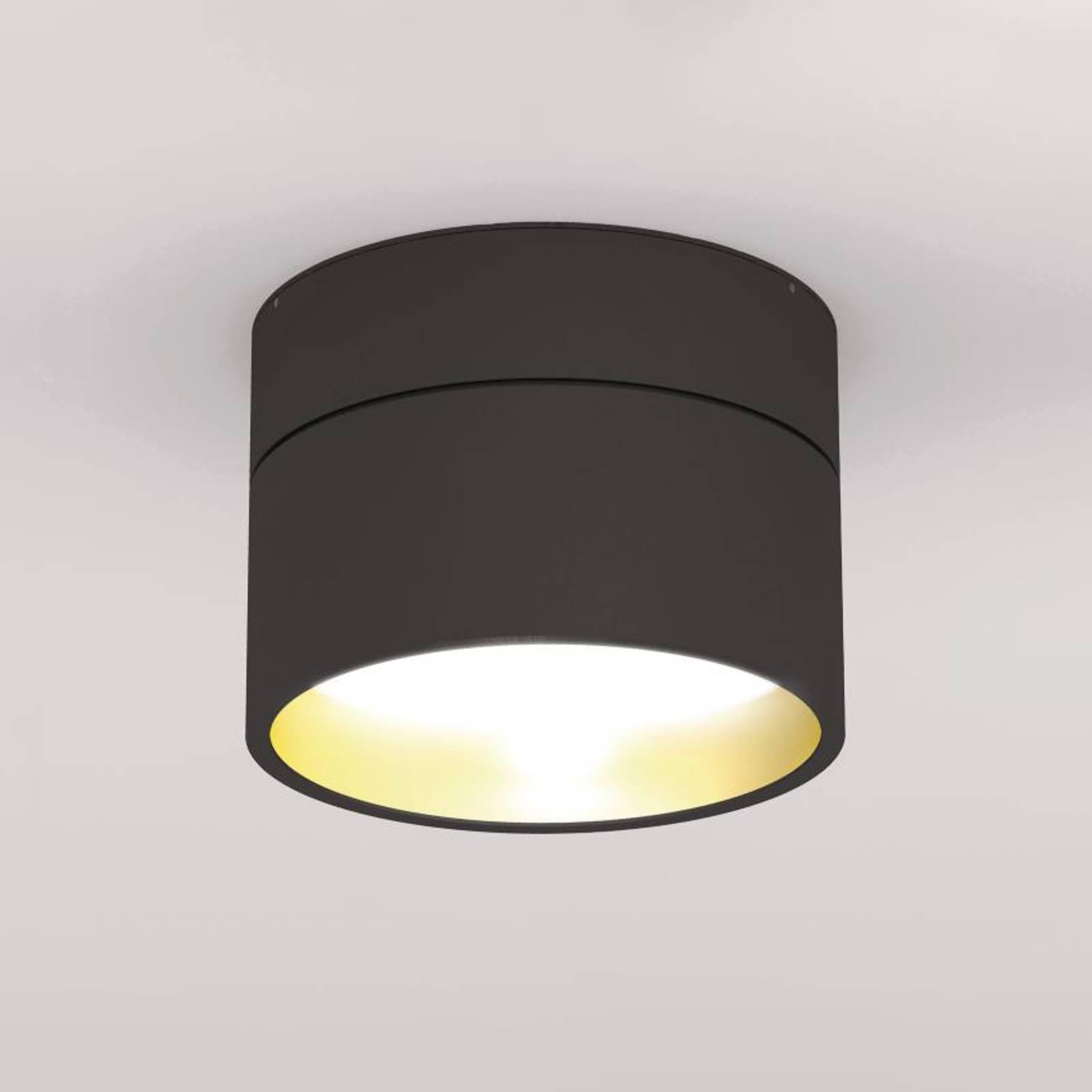 LOUM Turn on -LED-kattovalaisin dim musta/kulta