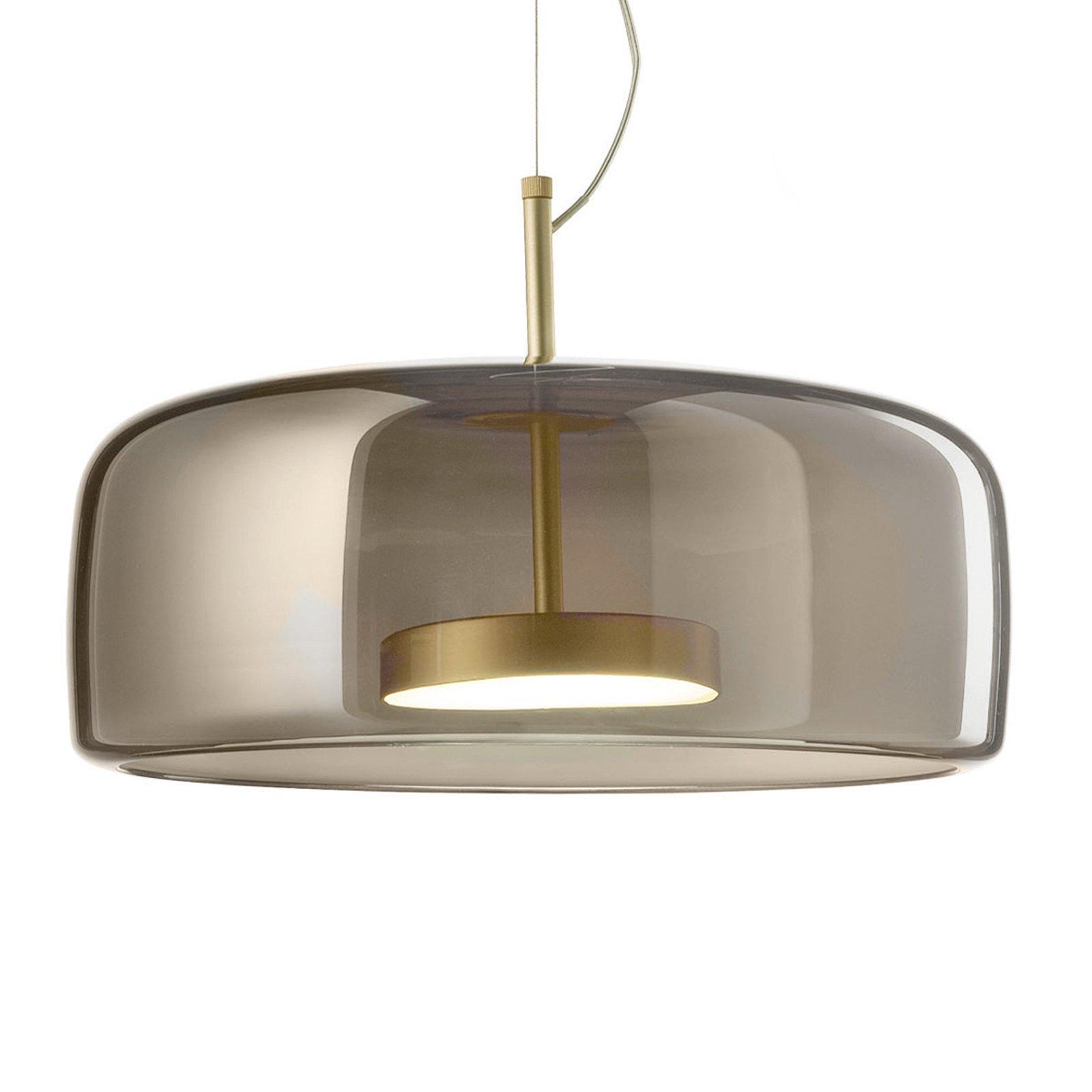 LED-hengelampe Jube SP 1 G, glasskjerm grå