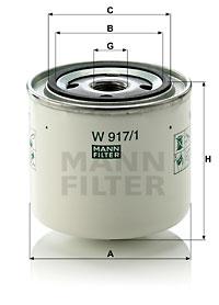 Öljynsuodatin MANN-FILTER W 917/1