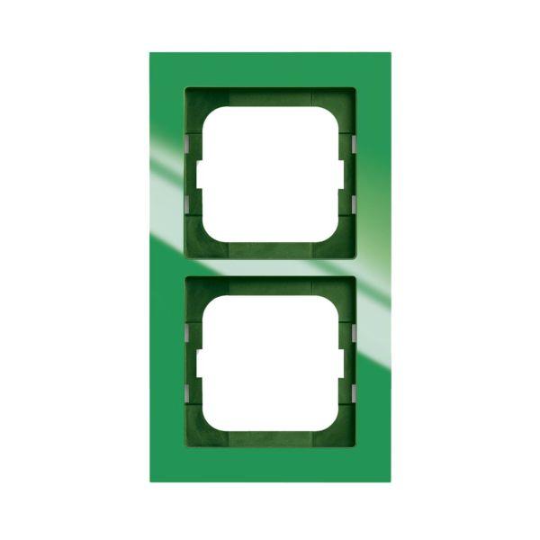 ABB Axcent Yhdistelmäkehys vihreä 2-paikkainen