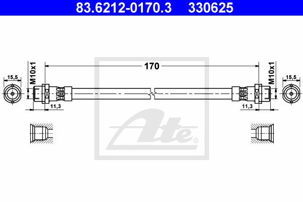 Jarruletku ATE 83.6212-0170.3