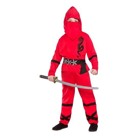 Ninja Röd Barn Maskeraddräkt - Large