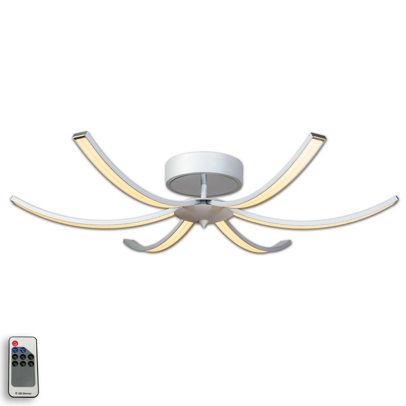 LED-taklampe Largo, 6 lyskilder, 91 cm aluminium