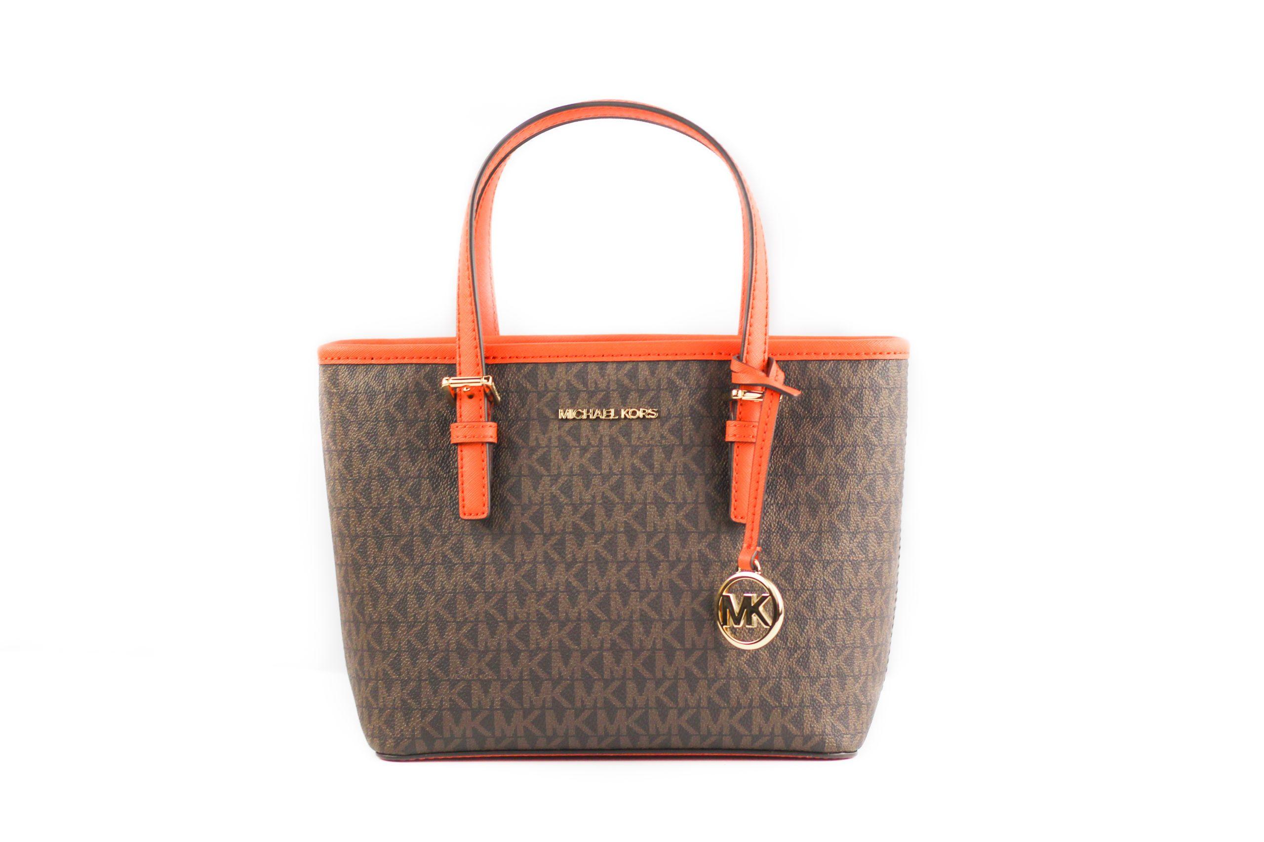 Michael Kors Women's Jet Set Tote Bag Orange 59425