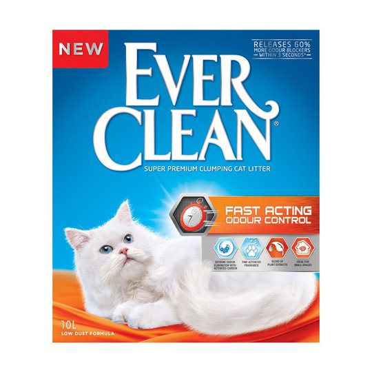 Ever Clean Fast Acting Odour Control Kattsand (10 l)