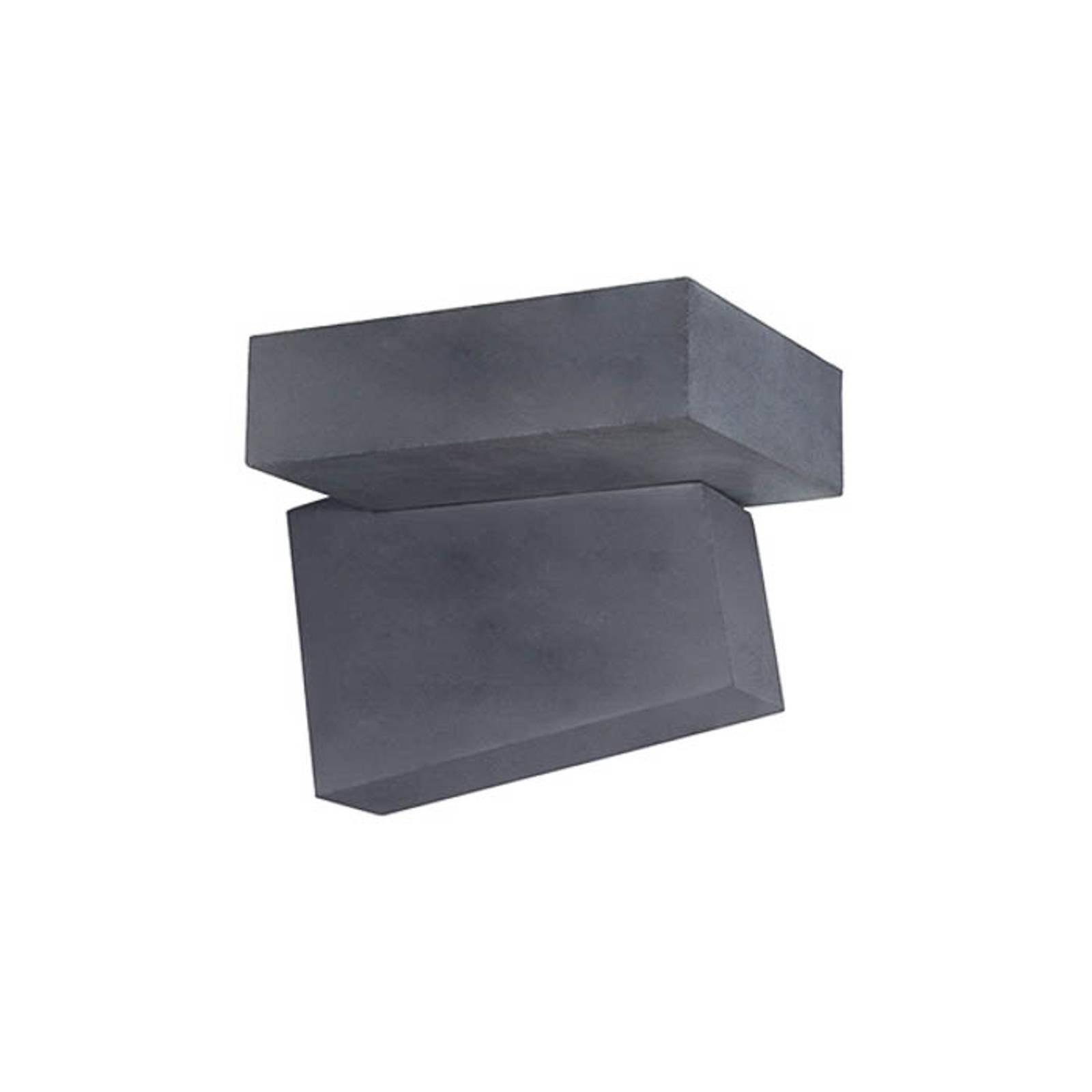 Utendørs LED-vegglampe Domino i svart