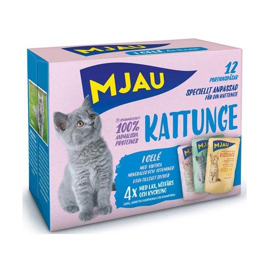 Mjau Multipack Kattunge 12 x 85 g