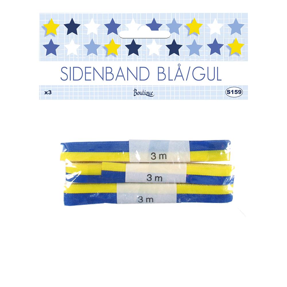 Sidenband Gul/Blå - 10 mm