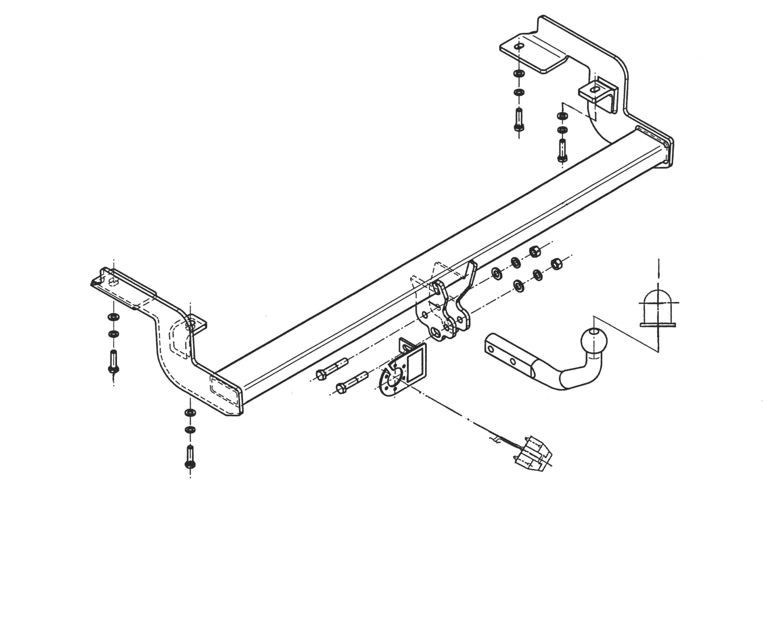 Vetokoukku STEINHOF STC-032 Citroen C5 '01-04