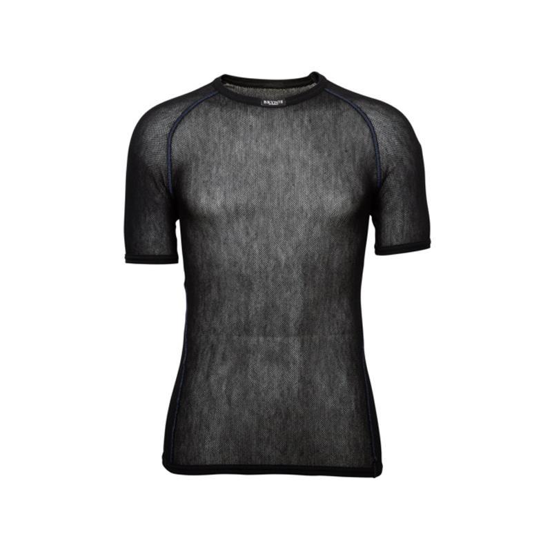 Brynje Wool Thermo Light T-shirt XXS Trøye med rund hals, kort arm, sort