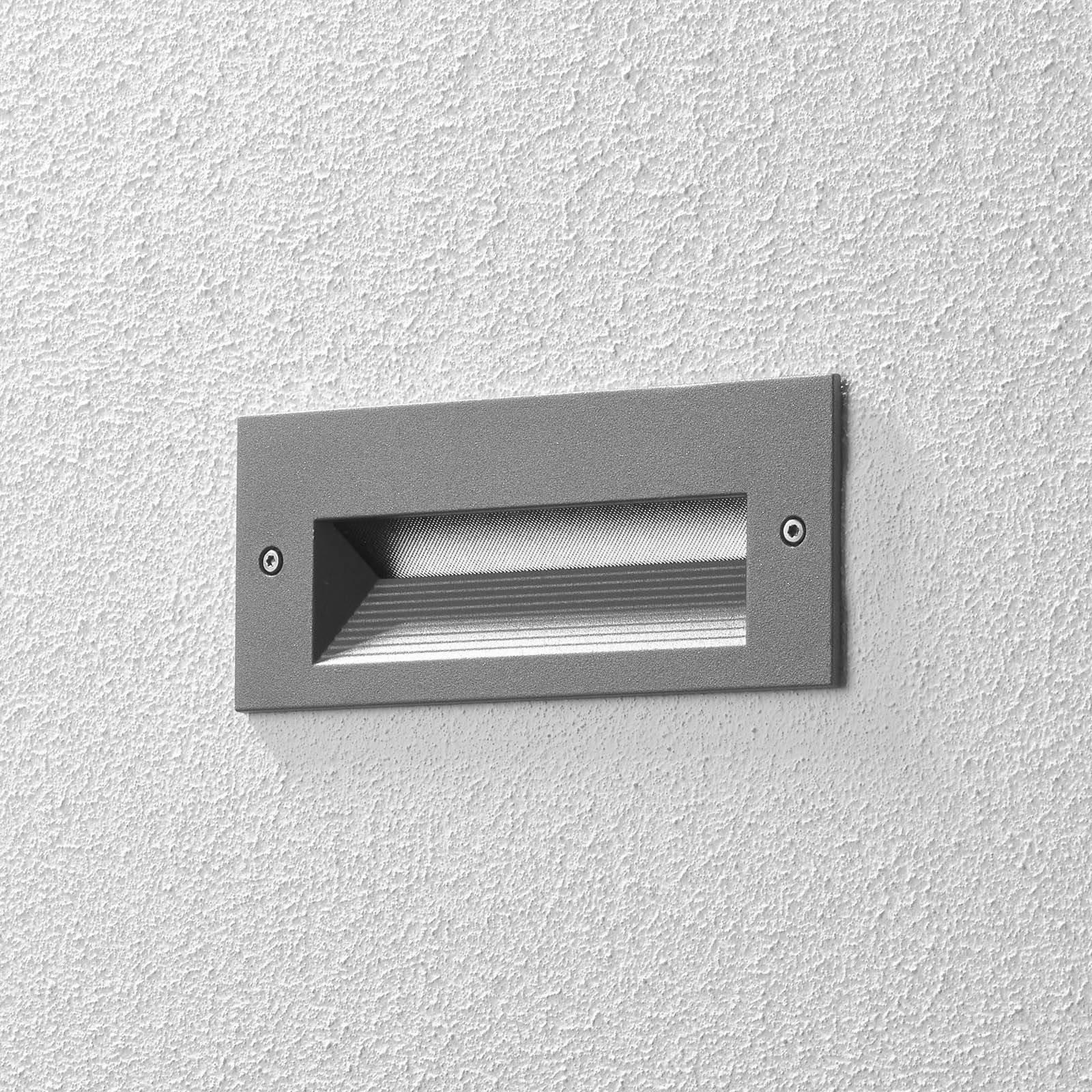 BEGA 33053 LED-veggmontering 3 000 K sølv 17 cm