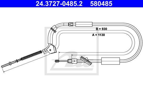 Käsijarruvaijeri ATE 24.3727-0485.2