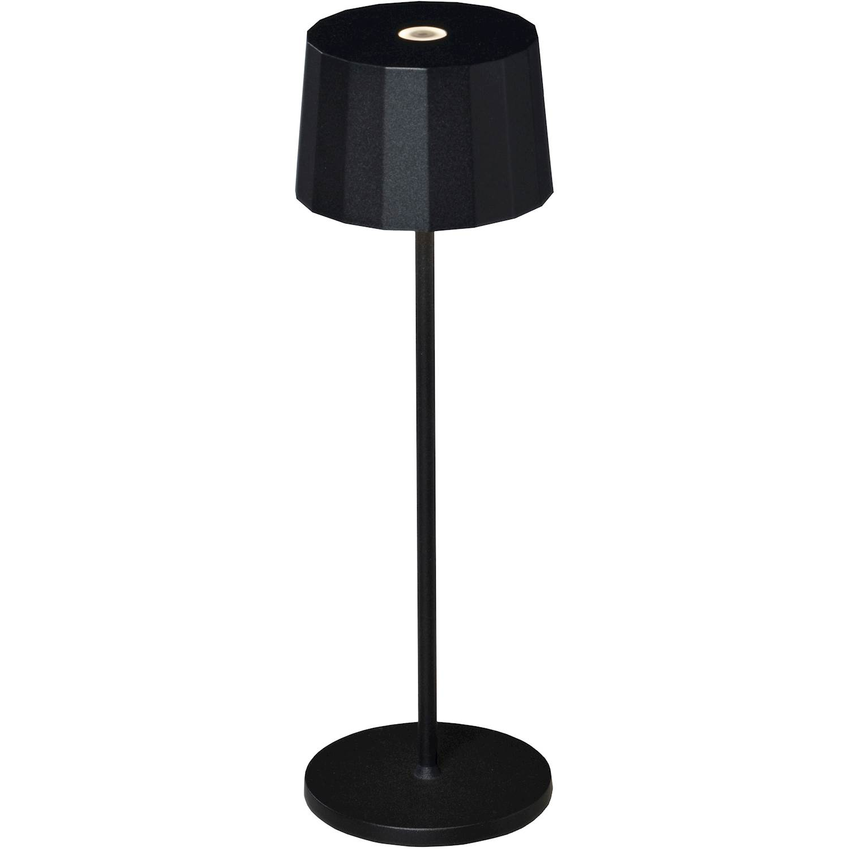 Konstsmide Positano bordslampa svart USB