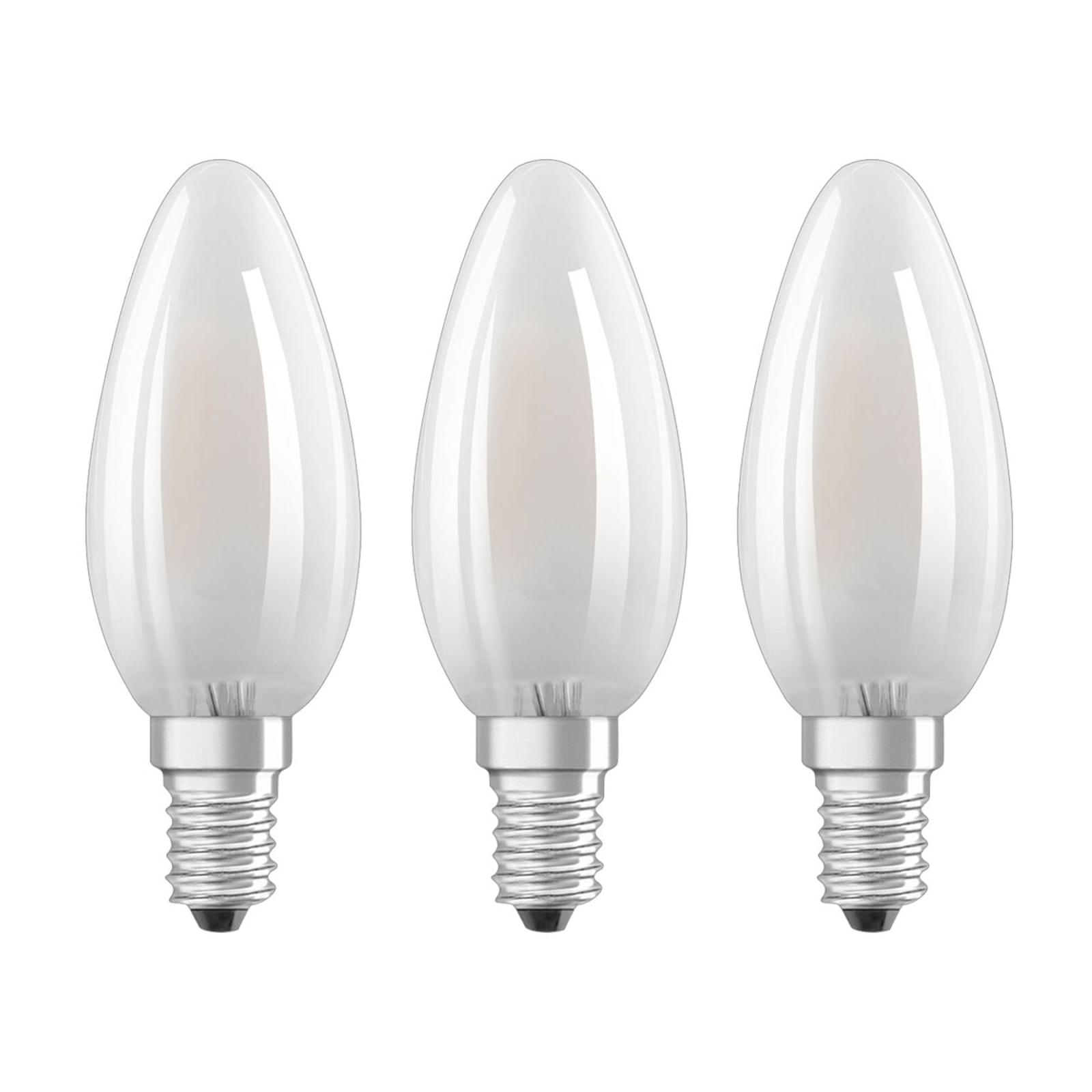 OSRAM-LED-kynttilä E14 Classic B 4W 2.700K 3 kpl