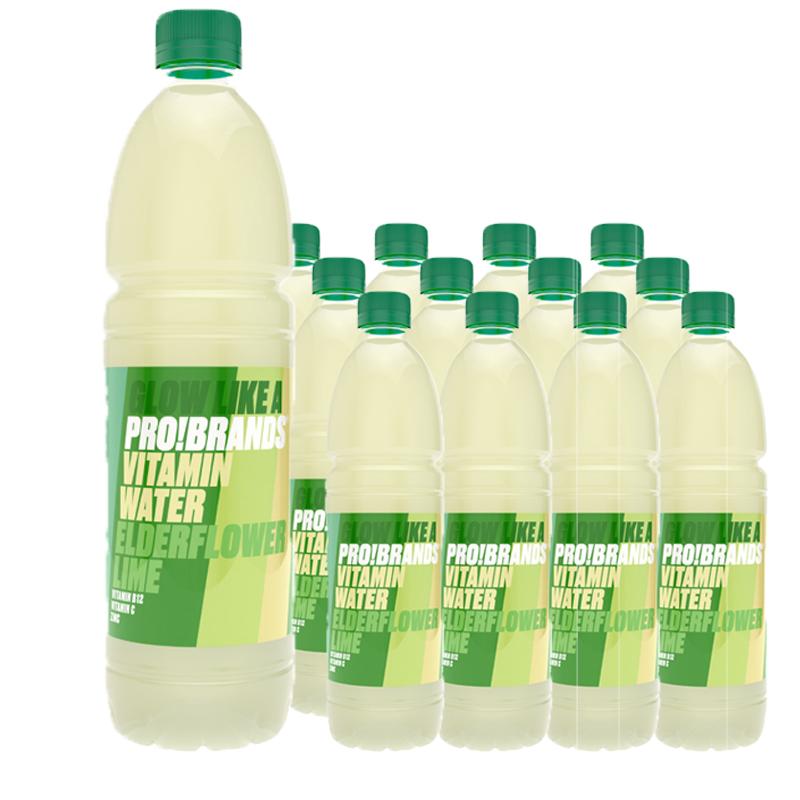 Vitaminvatten Fläder & Lime 12-pack - 81% rabatt