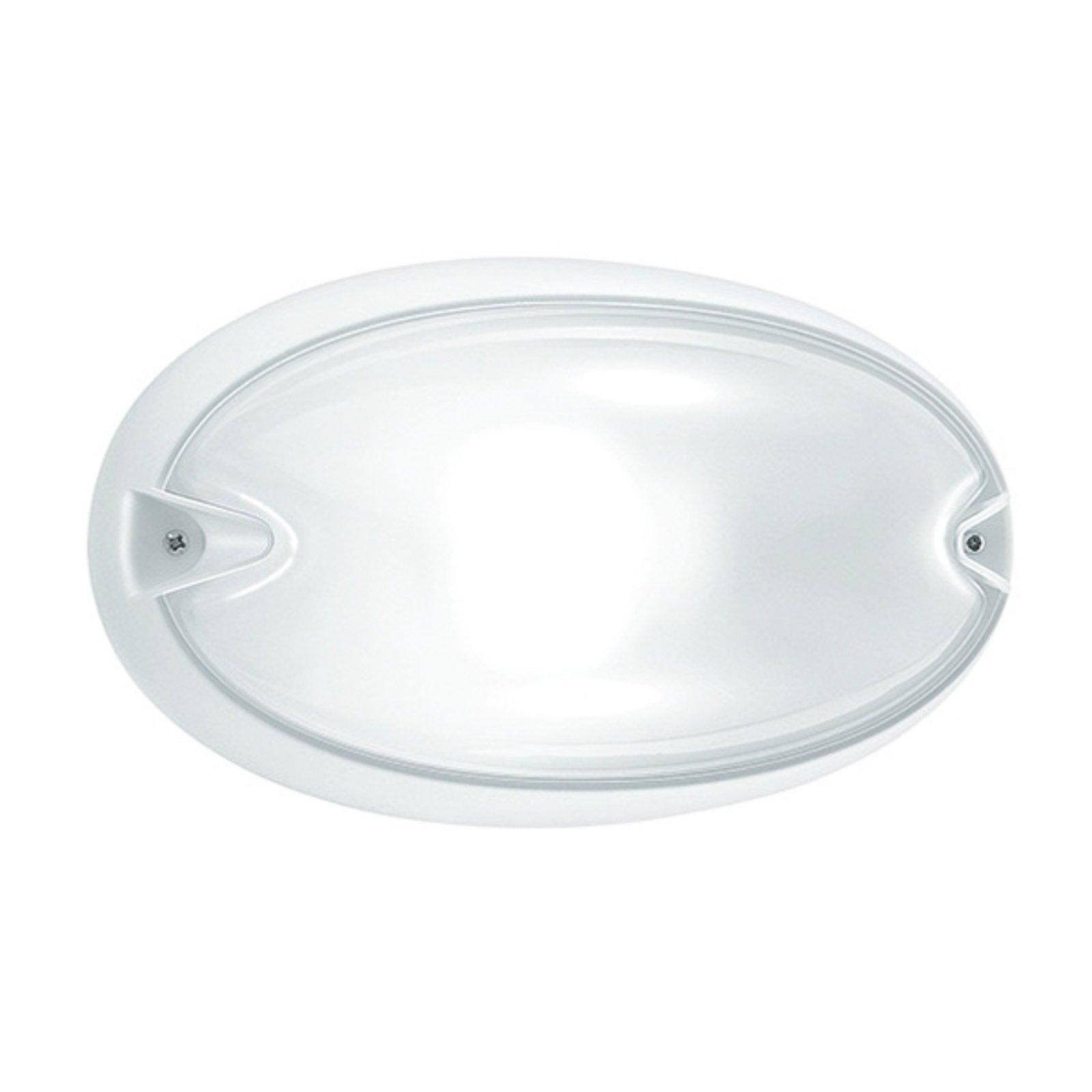 Oval Chip utendørs vegglampe i hvit