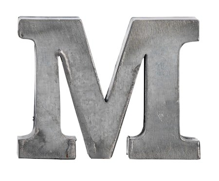 Bokstav M 5,5 cm - Zinc
