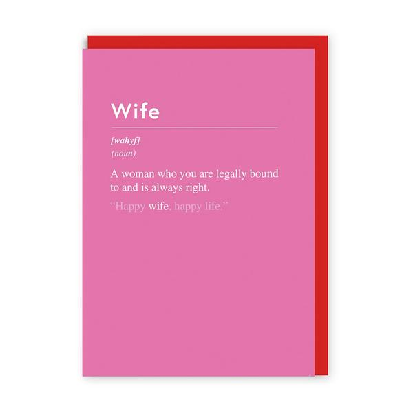 Wife Always Right Greeting Card