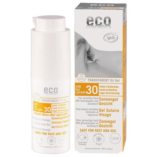 Eco Cosmetics Ekologiskt Solgel för ansiktet SPF 30, 30 ml