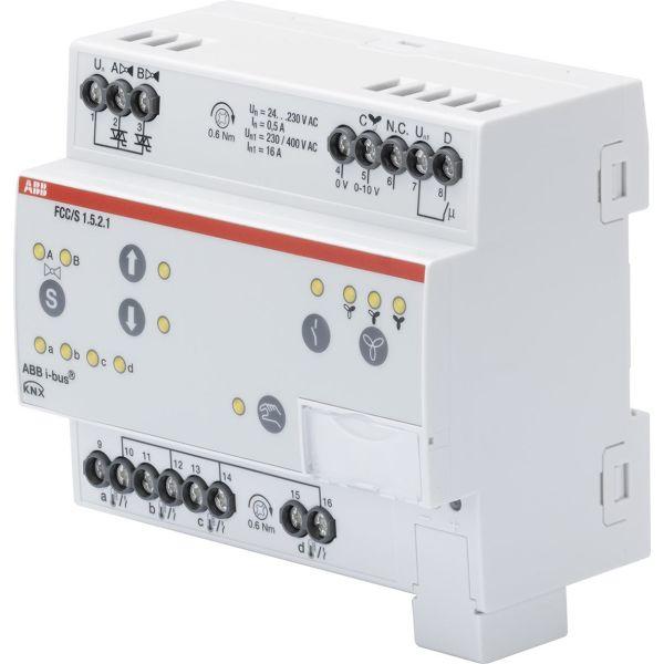 ABB 2CDG110235R0011 Puhallinkonvektorisäädin 0–10 V, 2 venttiiliä moottorin lähtöön PWM Manuaalinen kytkin: Kyllä