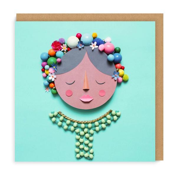 Frida Square Greeting Card