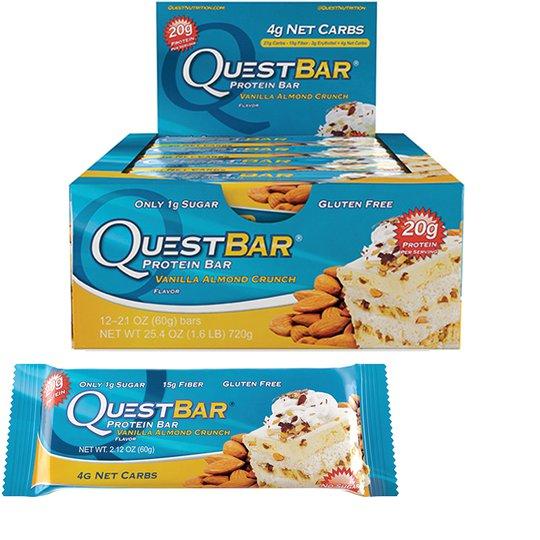 "Hel Låda Proteinbars ""Vanilla Almond Crunch"" 12 x 60g - 52% rabatt"