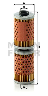 Öljynsuodatin MANN-FILTER MH 58 x