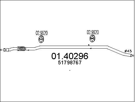 Pakoputki MTS 01.40296