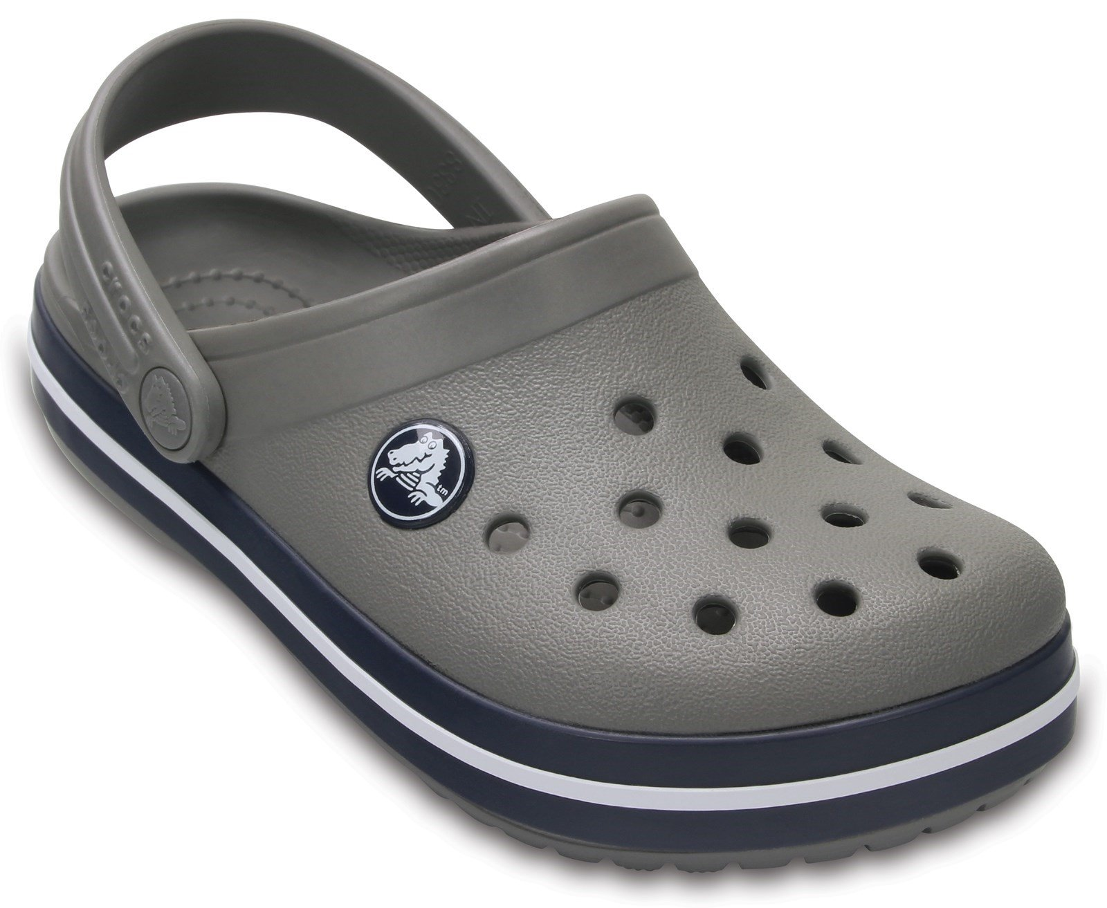 Crocs Kid's Crocband Clog Sandal Smoke/Navy 32080 - Smoke/Navy 10