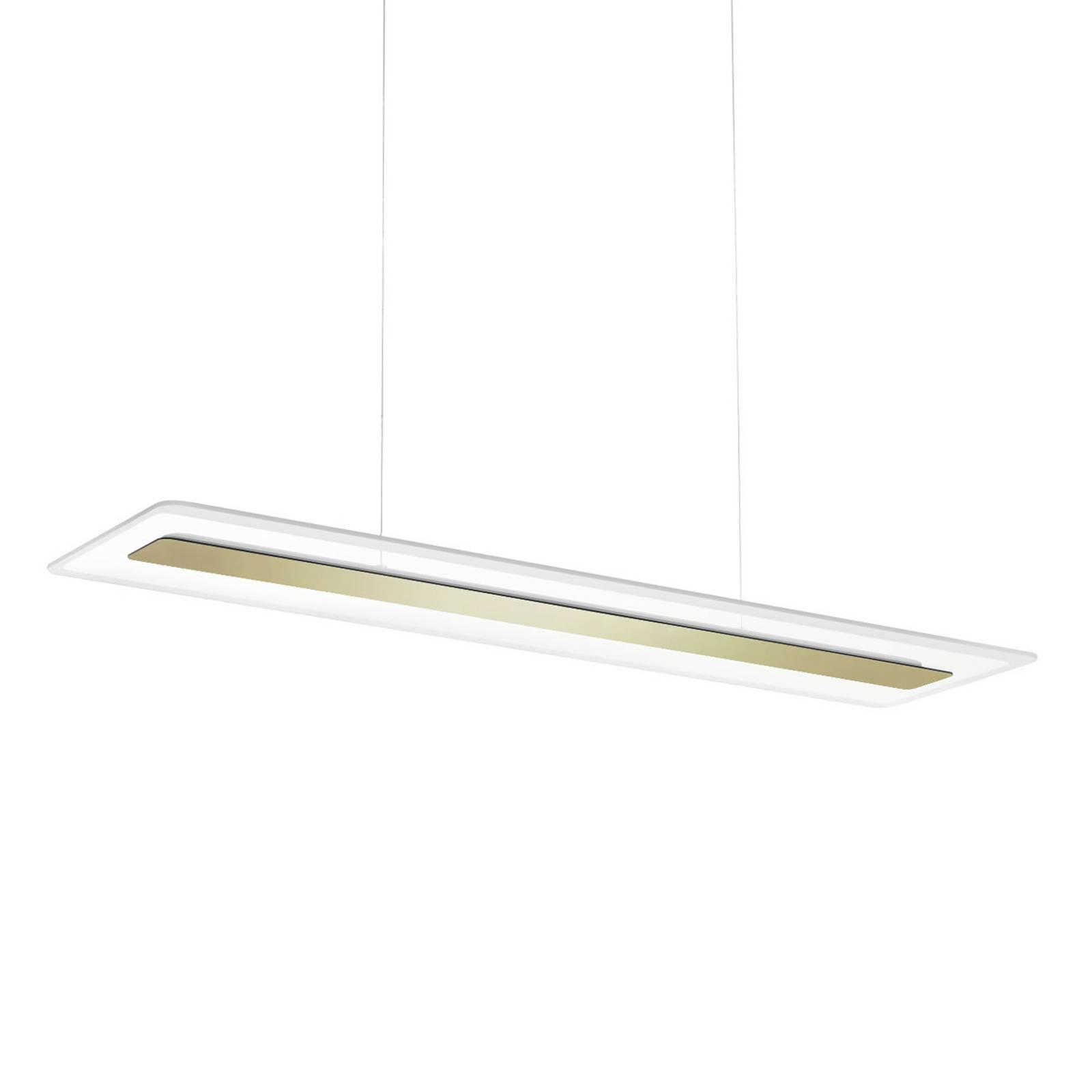 LED-riippuvalaisin Antille lasia, kulta